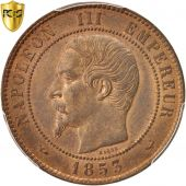 France, Napoleon III, 10 Centimes, 1853, Lille, PCGS, MS63RB, KM:771.7