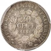 France, Cérès, 20 Centimes, 1850, Paris, PCGS, MS64, SPL+, Argent, KM:758.1
