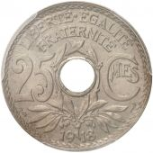 France, Lindauer, 25 Centimes, 1918, Paris, PCGS, MS64+, Copper-nickel, KM:867a