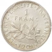 France, Semeuse, Franc, 1901, Paris, PCGS, MS62, SUP+, Argent, KM:844.1