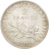 France, Semeuse, 2 Francs, 1902, Paris, PCGS, MS62, SUP+, Argent, KM:845.1