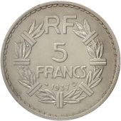 France, Lavrillier, 5 Francs, 1937, Paris, PCGS, MS62, SUP+, Nickel, KM:888