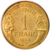 French West Africa, Franc, 1944, Paris, PCGS, MS64, SPL+, Aluminum-Bronze, KM:2