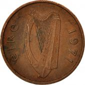 IRELAND REPUBLIC, 1/2 Penny, 1971, EF(40-45), Bronze, KM:19