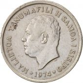 Samoa, 5 Sene, 1974, AU(50-53), Copper-nickel, KM:14