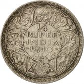 INDIA-BRITISH, George VI, 1/4 Rupee, 1940, EF(40-45), Silver, KM:545