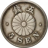 Japon, Mutsuhito, 5 Sen, 1893, TTB, Copper-nickel, KM:19