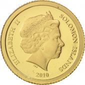 Solomon Islands, Elizabeth II, 5 Dollars, 2010, CIT, MS(65-70), Gold, KM:119