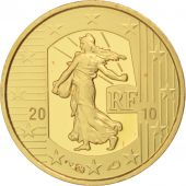 France, 5 Euro, Semeuse, 2010, FDC, Or, KM:1674