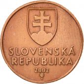 Slovaquie, 50 Halierov, 2002, TTB+, Copper Plated Steel, KM:35