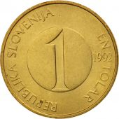 Slovenia, Tolar, 1992, AU(55-58), Nickel-brass, KM:4