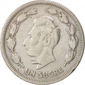 Équateur, Sucre, Un, 1959, TB+, Copper-nickel, KM:78a