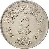 Égypte, 5 Piastres, 1972, SPL, Copper-nickel, KM:A428