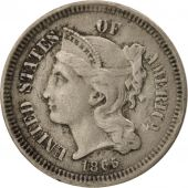 États-Unis, Nickel 3 Cents, 1865, U.S. Mint, Philadelphia, TTB, KM:95