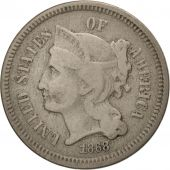 États-Unis, Nickel 3 Cents, 1868, U.S. Mint, Philadelphia, TB+, KM:95