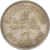 Égypte, 5 Piastres, 1977, SPL, Copper-nickel, KM:468