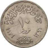 Égypte, 10 Piastres, 1976, SPL, Copper-nickel, KM:452
