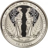 Nouvelle-Zélande, 50 Cents, 2015, SPL, Copper-nickel