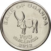 Uganda, 100 Shillings, 2012, SPL, Nickel plated steel