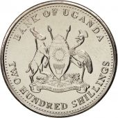 Uganda, 200 Shillings, 2012, SPL, Nickel plated steel