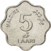 MALDIVE ISLANDS, 5 Laari, 1990, SUP+, Aluminium, KM:69