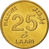 MALDIVE ISLANDS, 25 Laari, 1996, SPL, Nickel-brass, KM:71