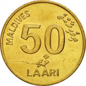 MALDIVE ISLANDS, 50 Laari, 1995, SPL, Nickel-brass, KM:72