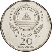 Cape Verde, 20 Escudos, 1994, SPL, Nickel plated steel, KM:33