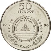 Cape Verde, 50 Escudos, 1994, SPL, Nickel plated steel, KM:44