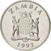 Zambia, 25 Ngwee, 1992, British Royal Mint, MS(63), Nickel plated steel, KM:29