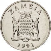 Zambia, 50 Ngwee, 1992, Nickel plated steel, KM:30