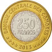 Comoros, 250 Francs, 2013, Paris, SPL, Bi-Metallic