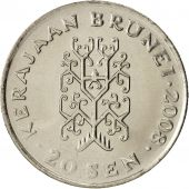 BRUNEI, Sultan Hassanal Bolkiah, 20 Sen, 2008, SPL, Copper-nickel, KM:37