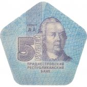 Transnistrie, 5 Roubles, 2014, FDC, Plastic