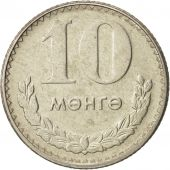 Mongolie, 10 Mongo, 1981, SUP, Copper-nickel, KM:30