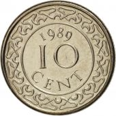 Surinam, 10 Cents, 1989, SPL, Nickel plated steel, KM:13a