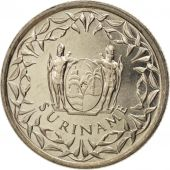 Surinam, 25 Cents, 1989, SPL, Nickel plated steel, KM:14A
