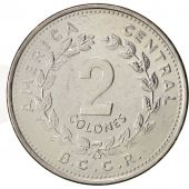 Costa Rica, 2 Colones, 1984, SUP, Stainless Steel, KM:211.2