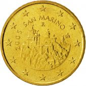 San Marino, 50 Euro Cent, 2005, MS(63), Brass, KM:445