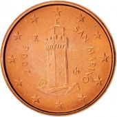 San Marino, Euro Cent, 2006, MS(60-62), Copper Plated Steel, KM:440