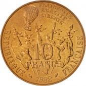 France, Gambetta, 10 Francs, 1982, SPL, Nickel-Bronze, KM:950, Gadoury:815