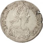 France, Louis XIV, Ecu, 1653, Montpellier, VF(30-35), Silver, Gadoury:202