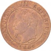 France, Napoléon III, Centime, 1861, Bordeaux, TTB+, Bronze, KM:795.3