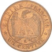 France, Napoléon III, Centime, 1862, Bordeaux, SUP, Bronze, KM:795.3