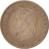 France, Napoléon III, Centime, 1870, Paris, EF(40-45), Bronze, KM:795.1