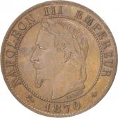 France, Napoléon III, Centime, 1870, Paris, AU(55-58), Bronze, KM:795.1