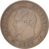 France, Napoléon III, Centime, 1857, Paris, TTB+, Bronze, KM:775.1