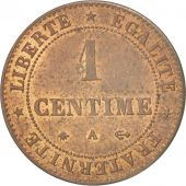 France, Cérès, Centime, 1872, Paris, AU(55-58), Bronze, KM:826.1, Gadoury:88
