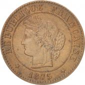 France, Cérès, Centime, 1875, Paris, AU(55-58), Bronze, KM:826.1, Gadoury:88