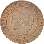 France, Cérès, Centime, 1875, Paris, AU(50-53), Bronze, KM:826.1, Gadoury:88